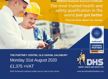 NEBOSH National General Certificate Course 31st August 2020