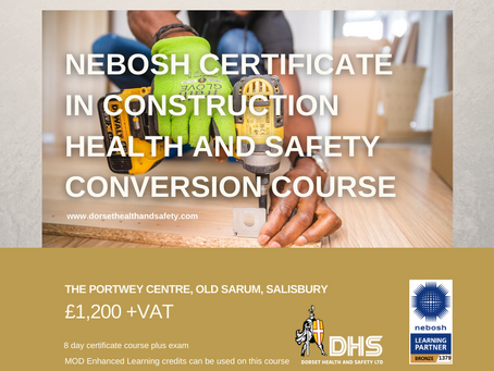 NEBOSH National Certificate in Construction Health and Safety Conversion Course Sept 2020