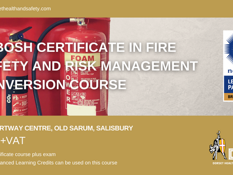 NEBOSH Certificate in Fire Safety And Risk Management Conversion Course