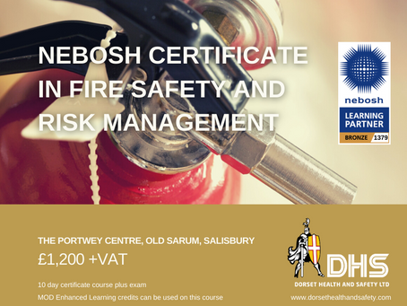 NEBOSH Certificate in Fire Safety and Risk Management 3rd August 2020