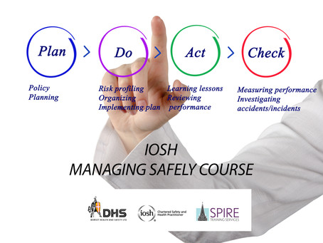 IOSH MANAGING SAFELY COURSE, SALISBURY, MARCH 2019