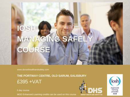IOSH MANAGING SAFELY COURSE - SALISBURY, WILTSHIRE