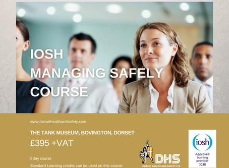 IOSH MANAGING SAFELY COURSE - BOVINGTON, DORSET