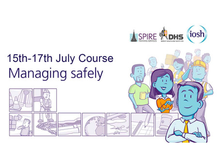 IOSH MANAGING SAFELY COURSE, SALISBURY, JULY 2019