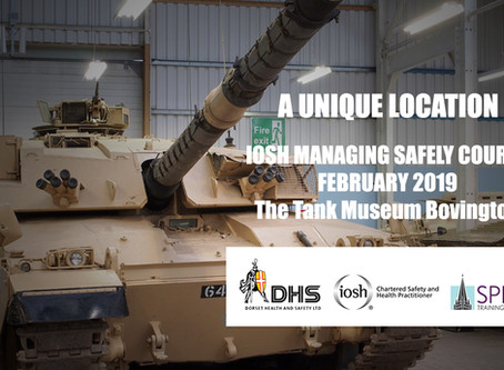 FEB 2019 IOSH MANAGING SAFELY COURSE BOVINGTON
