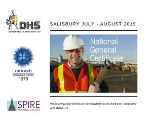 Nebosh National General Certificate Course - Salisbury July - August 2019