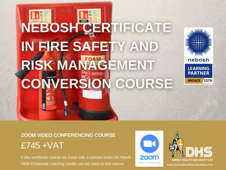 NEBOSH FIRE SAFETY RISK MANAGEMENT CONVERSION COURSE
