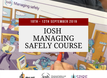 SEPT 2019, IOSH MANAGING SAFELY COURSE, SALISBURY