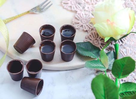Shooter en chocolat à l'Apiri Pomme