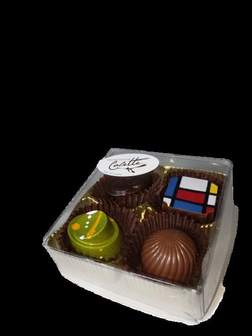 Boîtes de 4 chocolats - Chocolat de Colette