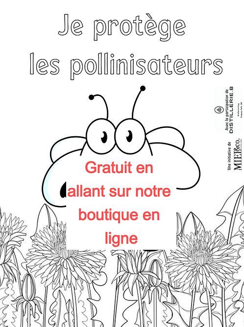 """Dessin gratuit """"Je protège les pollinisateurs"""""""