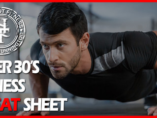 Over 30's Fitness Cheat Sheet