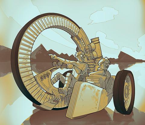 Sidecar Steampunk