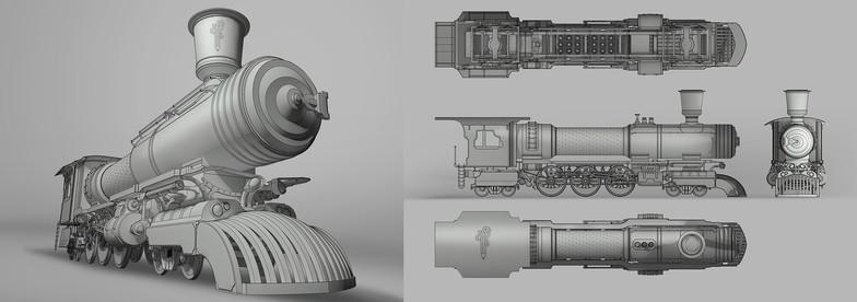 Locomotora Steampunk