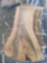Peppercorn raw timber slab