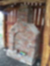 Playground hut brick chimney