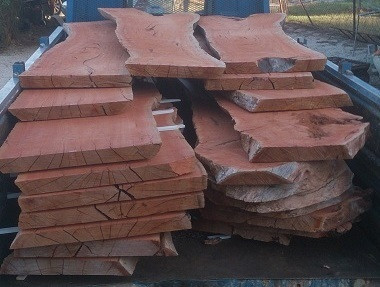 Truck Load of Redgum Slabs