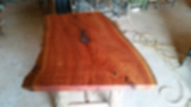 Raw edge timber table
