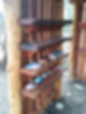 Playground hut custom shelves