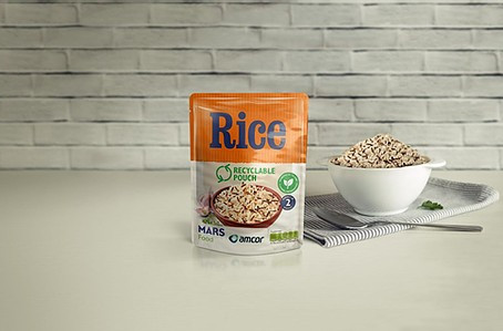 Mars Food and Amcor announce move to recyclable microwavable rice pouch