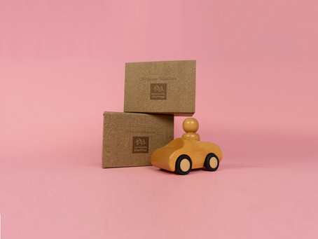 Wooden effect presentation boxes for Community Playthings
