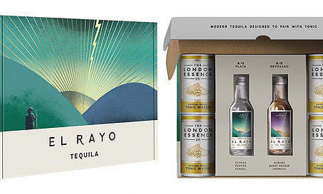New gift packaging design for El Rayo Tequila