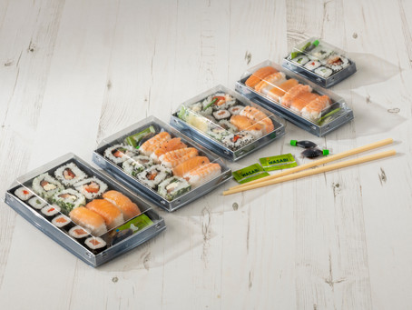 New Luxifood sushi pack from Sharpak