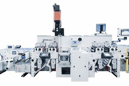 New flexo machine with in-line hot melt coating