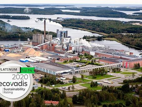 Platinum EcoVadis award for Iggesund Paperboard's Invercote