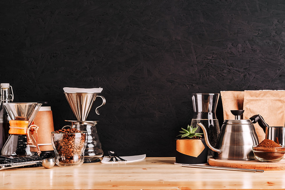 Accessories and utensils for making coff