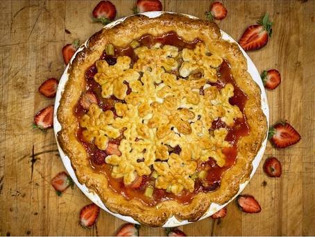 Farmers Strawberry Rhubarb Pie