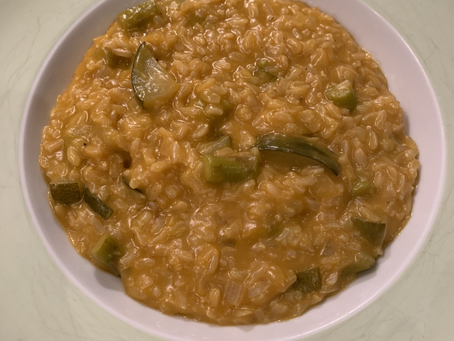 White Wine Zucchini & Asparagus Brown Rice Risotto