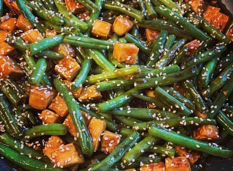General Tso Green Beans and Tofu