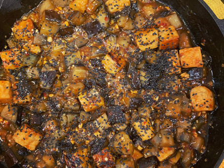 Chili Agave Eggplant and Tempeh Stir Fry