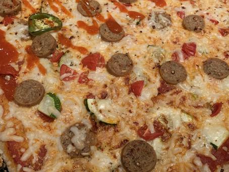 Vegan Sausage Whole Wheat Pizza