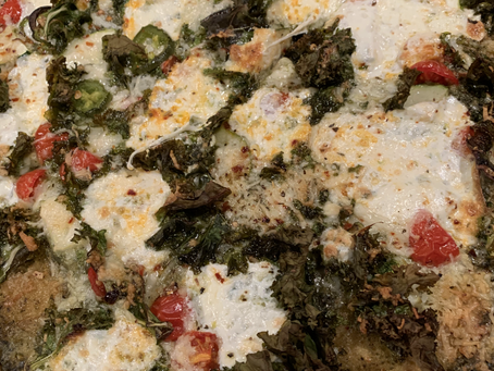 Pesto, Kale & Burrata Whole Wheat Pizza
