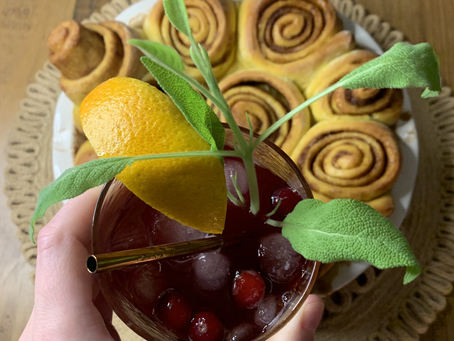 Cinnamon, Apple, Cranberry Cocktails