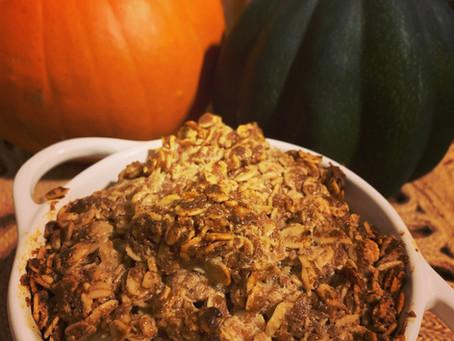 Healthy Apple Peanut Butter Crisp