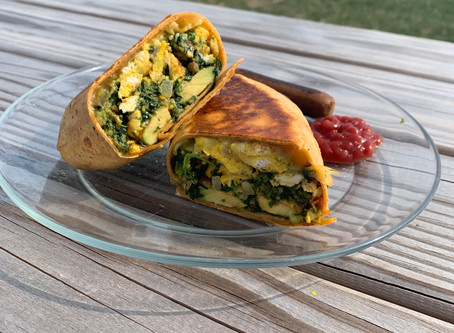 Chive Pesto Breakfast Wrap