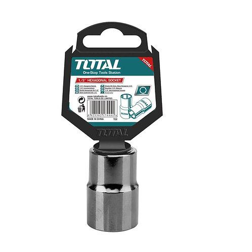 TOTAL THTST12231 Hexagonal Socket 1/2 23MM CR.V | لقمة 1/2 بوصة 23 ملي توتال
