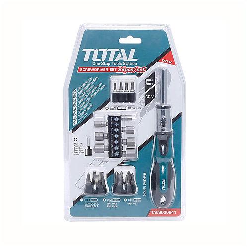Total TACSD30246 24Pcs in 1 Screwdriver set | طقم مقك توتال 24 قطعة