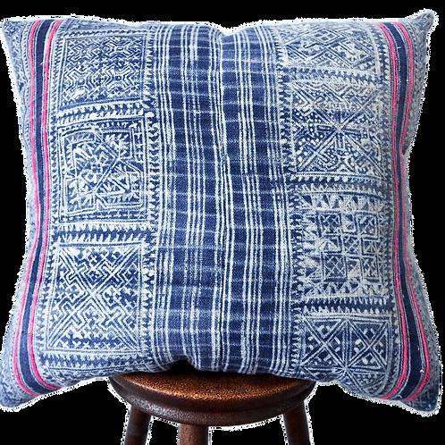 Pink boho batik cushion pillow