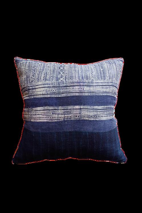 Vintage Indigo Batik Cushion Cover - Blue III
