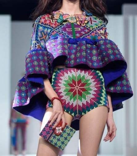 Hmong embroidered textile artisan