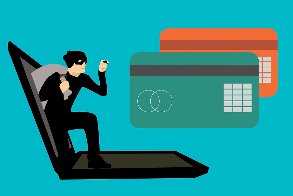 A hacker accessing PC user's card details