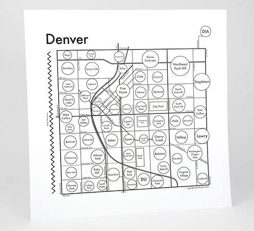 Denver Letterpress Print