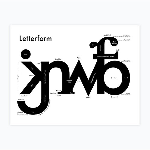 Letterform Letterpress Print