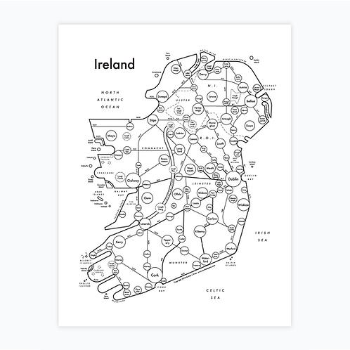 Ireland Letterpress Print
