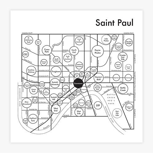 Saint Paul Letterpress Print