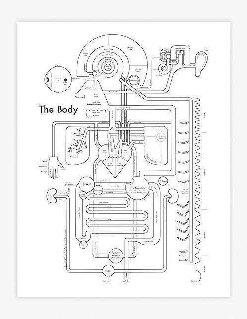 Body Letterpress Print